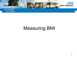 Measuring BMI