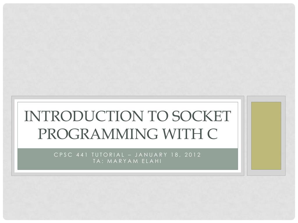 Socket Programming (T02/T03)