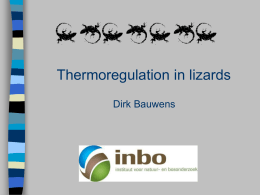 Behavioural thermoregulation