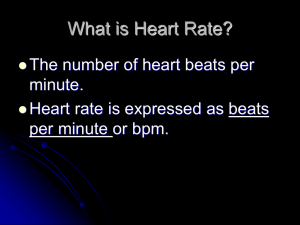 target heart rate ppt - Pioneer Central Schools