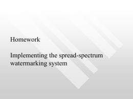 (I) - Implementing the spread-spectrum watermarking system