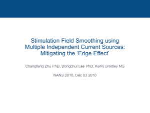 Stimulation Field Smoothing using Multiple Independent Current