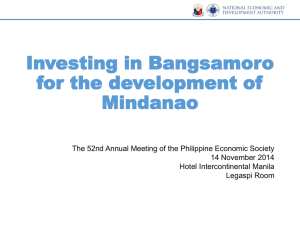 Development Opportunities of Mindanao Regions