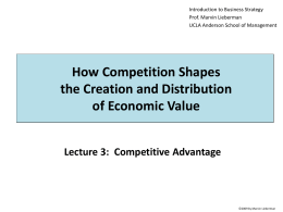 Competitive Advantage - UCLA Anderson School of Management
