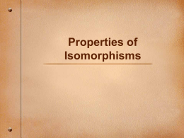 IsomorphismProperies