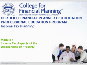 4–4 - College for Financial Planning