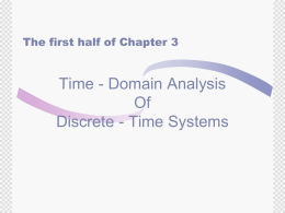Chapter 3. Time-Domain Analysis of DT Systems