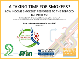 Low income smokers` responses to the tobacco tax