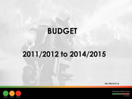 Budget Presentation for Joint Leaders Meeting