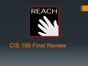CIS 199 Test 01 Review
