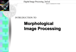 Morphological Image Processing