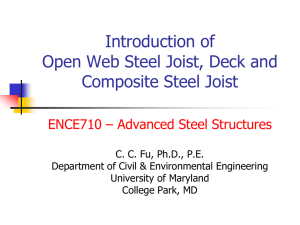 SteelJoist - Department of Civil & Environmental Engineering