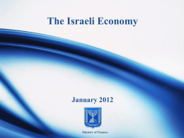 The Israeli Economy - Ministry of Finance