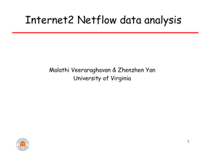 Internet2 Netflow Data Analysis - Electrical and Computer Engineering