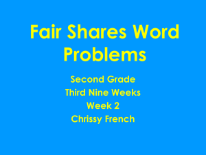 Fair Shares Word Problems