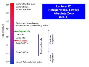 Lecture 12. Toward Absolute Zero (Ch. 4)