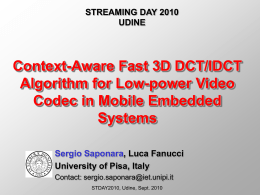 3D DCT for video coding