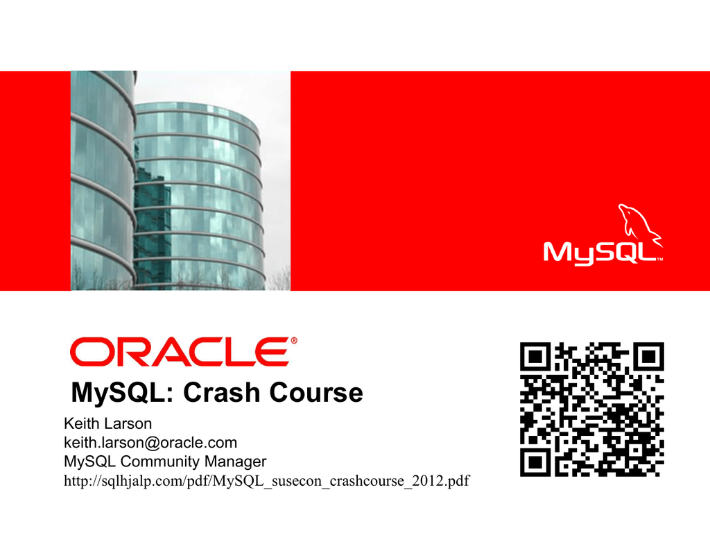 Mysql Crash Course Pdf
