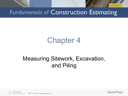 Chapter 4: Measuring Sitework, Excavation, and Piling