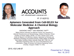 Cell-Based Selection of Aptamers Specific to Cancer Cells