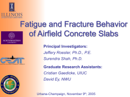 Fatigue and Fracture of Concrete Slabs for Airfields