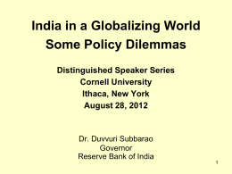 India in a Globalizing World : Some Policy Dilemmas