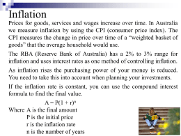 Inflation and appreciation