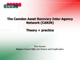 The Camden Asset Recovery Inter