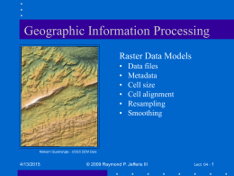 Geographic Information Processing