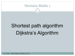 d1 shortest path - 2July
