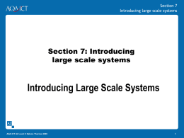 Introducing Large Scale Systems