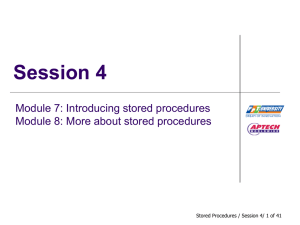 Session4_Module7-8_Stored Procedures - fpt