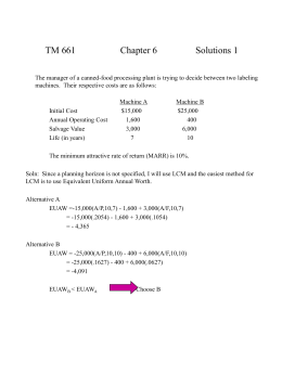 TM 661 Chapter 6 Solutions 1