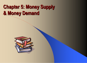 Chapter 18: Money, Supply and Money Demand