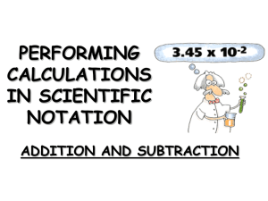 Performing calculations in Scientific Notation mult and div