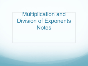 Multiplication & Division Rule for exponents