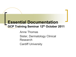 Essential Documentation GCP Training Day