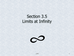 Section 3.5 Limits at Infinity