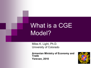 What is a CGE Model?