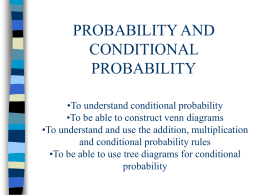 S1 Probability and conditional probability