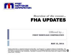 FHA Updates Overview (PowerPoint)