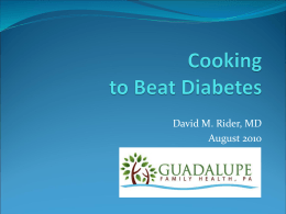 Eat to Beat Diabetes - Guadalupe Healthcare Network