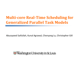 Multi-core Real-Time Scheduling for Generalized Parallel Task Models