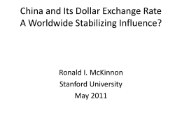 China`s Exchange Rate, Trade Balance, and Wage Explosion