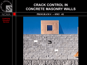 CrackControl - Lee Masonry Products