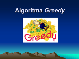 Algoritma Greedy – Knapsack Problem