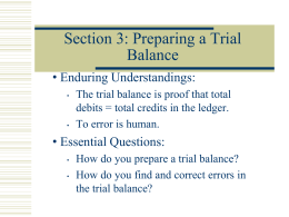 PPT Correcting Entries & Trial Balance