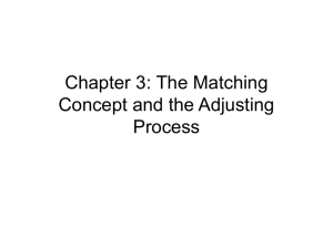 Chapter 3: The Matching Concept and the Adjusting Process