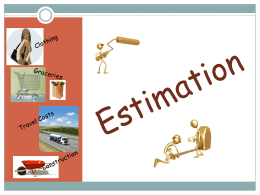 Rounding and Estimation PowerPoint