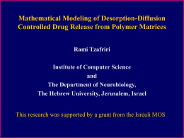 Mathematical Modeling of Desorption